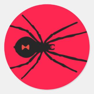 Black Widow Spider Classic Round Sticker