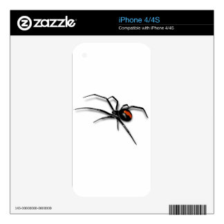 Black Widow Spider Decal For iPhone 4