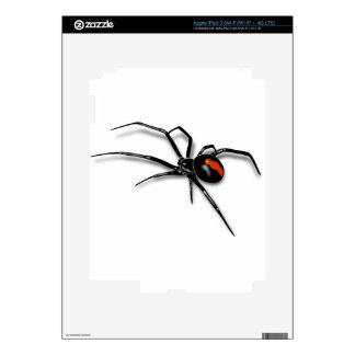 Black Widow Spider Decals For iPad 3