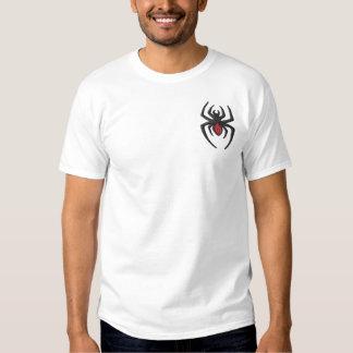 Black Widow Spider Embroidered T-Shirt