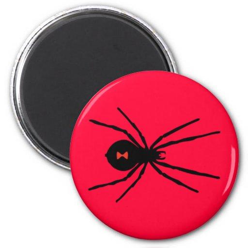 Black Widow Spider Fridge Magnet