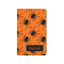 black widow spider halloween design journal