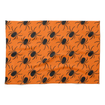 black widow spider halloween design kitchen towel
