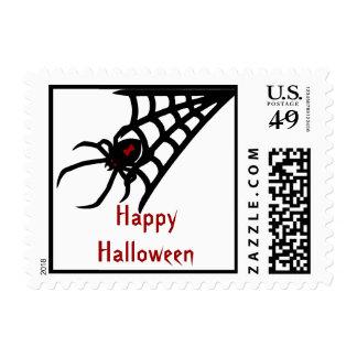 Black Widow Spider Halloween Postage