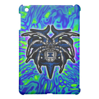 Black Widow Spider Illustrated Chrome iPad Mini Cover