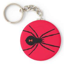 Black Widow Spider Keychain