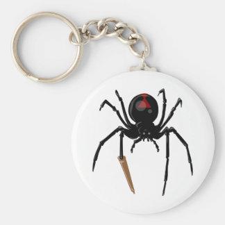 black widow spider key chains