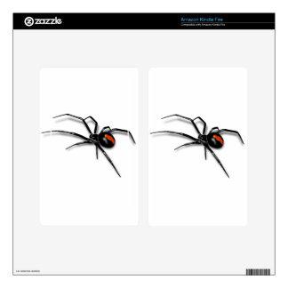 Black Widow Spider Kindle Fire Decals