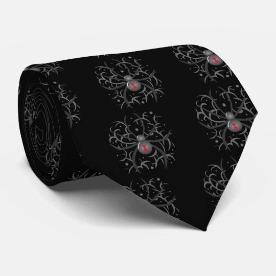 Black Widow Spider Neck Tie