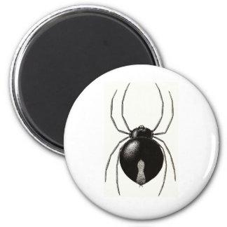 Black Widow Spider -- Original Artwork 2 Inch Round Magnet