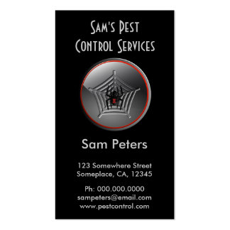 Black Widow Spider Pest Control Business Cards Business Card Template