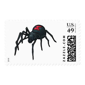 Black Widow Spider Postage Stamp