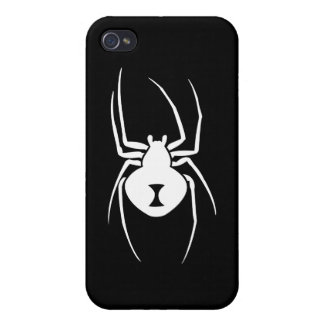 Black Widow Spider Print Cases For iPhone 4
