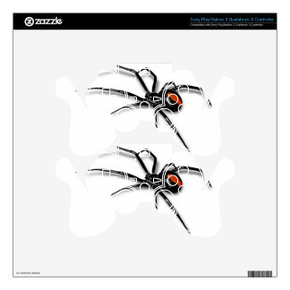 Black Widow Spider PS3 Controller Decal