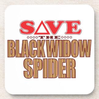 Black Widow Spider Save Beverage Coaster