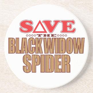 Black Widow Spider Save Coaster