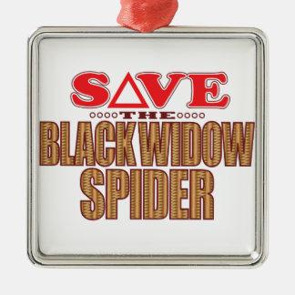 Black Widow Spider Save Metal Ornament