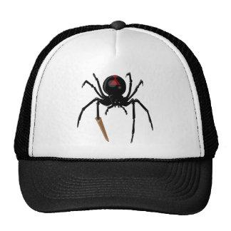black widow spider trucker hat