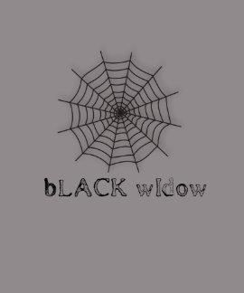 black widow spider web chick tee