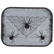 Black Widow Spider Web Halloween Gothic Car Floor Mat