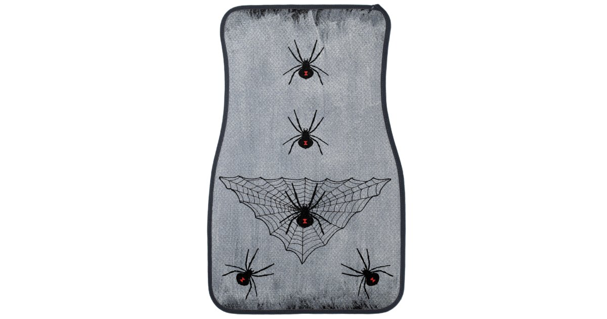 Black Widow Spider Web Halloween Gothic Car Mat Zazzle Com
