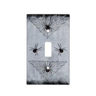 Black Widow Spider Web Halloween Gothic Light Switch Plates