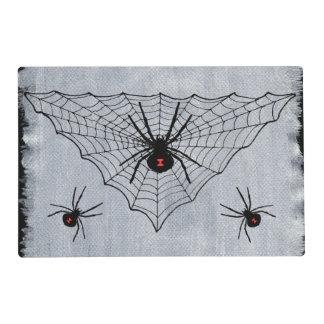 Black Widow Spider Web Halloween Gothic Placemat