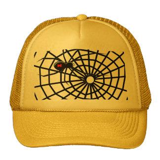 Black Widow Spiders Web Mesh Hats