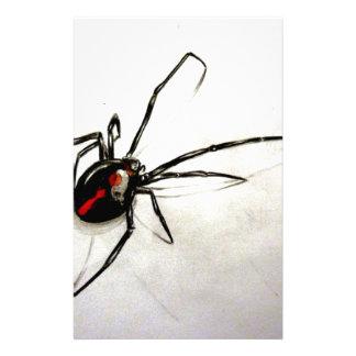 Black widow stationery