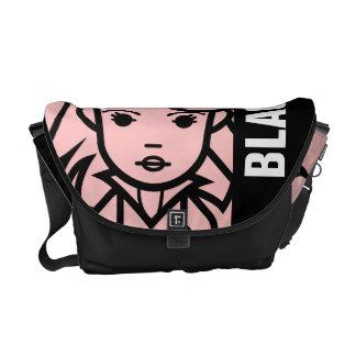 Black Widow Stylized Line Art Courier Bag