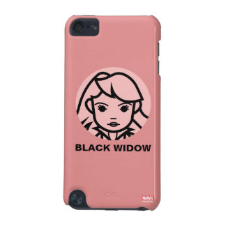 Black Widow Stylized Line Art Icon iPod Touch 5G Cover