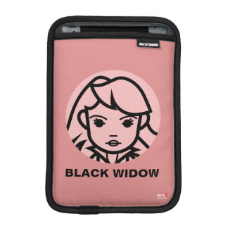 Black Widow Stylized Line Art Icon Sleeve For iPad Mini