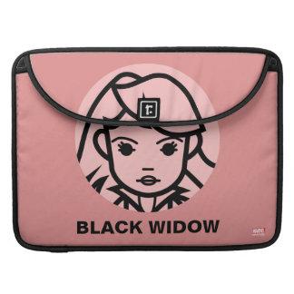 Black Widow Stylized Line Art Icon Sleeve For MacBook Pro