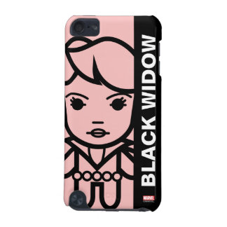 Black Widow Stylized Line Art iPod Touch (5th Generation) Cover