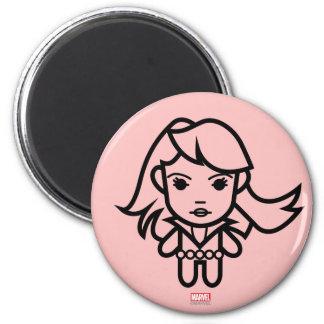 Black Widow Stylized Line Art Magnet