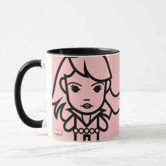 Black Widow Stylized Line Art Mug