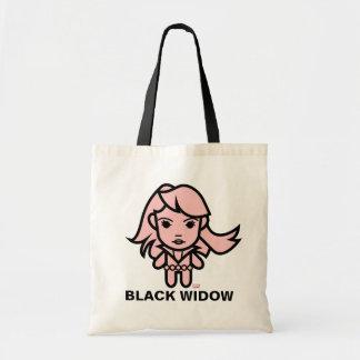 Black Widow Stylized Line Art Tote Bag