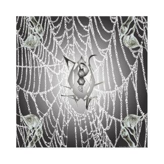 Black Widow Web Canvas Canvas Prints