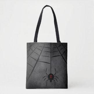 Black Widow Web Tote Bag