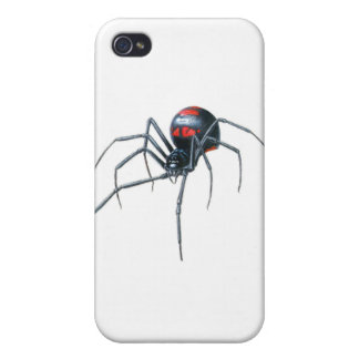 Black Widows Spider Cases For iPhone 4