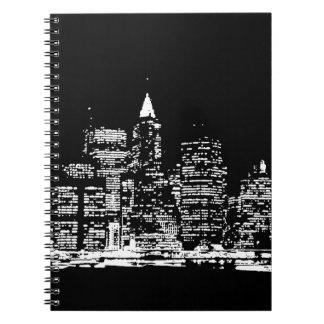 Black & Wihte New York City Night Notebook