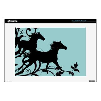 "Black Wild Horses 13"" Laptop Skin"