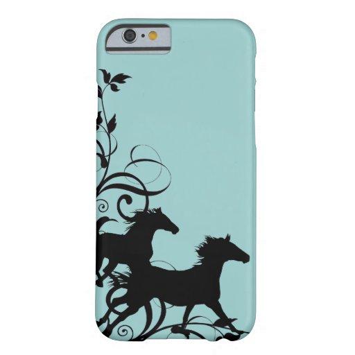 Black Wild Horses iPhone 6 Case