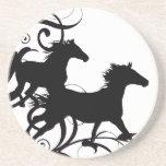 Black Wild Horses Coasters