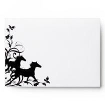 Black Wild Horses Envelope