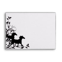 Black Wild Horses Envelope