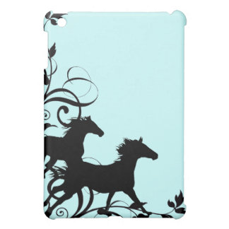 Black Wild Horses iPad Mini Cover