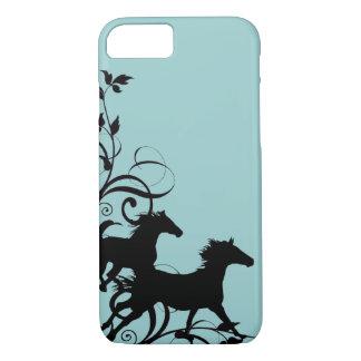 Black Wild Horses iPhone 7 Case