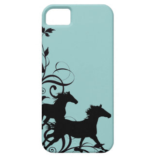Black Wild Horses iPhone SE/5/5s Case