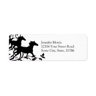 Black Wild Horses Label